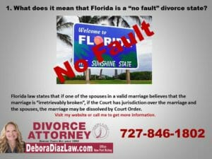 No fault divorce slide